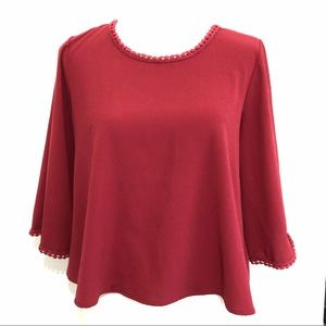 Tops - DONATE SOON❗️Maroon bell sleeve blouse top